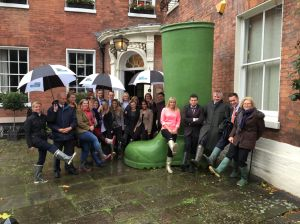 HCR Worcs office with Giant Welly