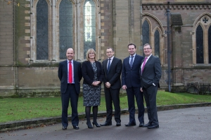L-R Robert Capper, Claire Thompson, Rob Cobley, David Bayliss, Jonathan Brew