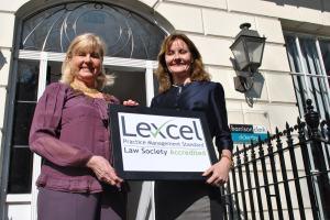 L-R Barbara Marsh, Lexcel and Caroline Irvine, Partner
