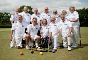 Croquet trophy winners at Broadwas, 6th August, 2015