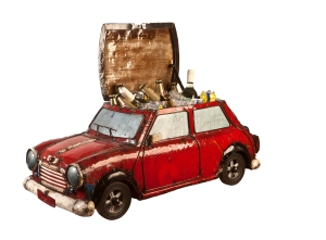 Mini Cooper Red Open